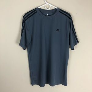 Adidas Climate Control Grey Short Sleeve T-Shirt